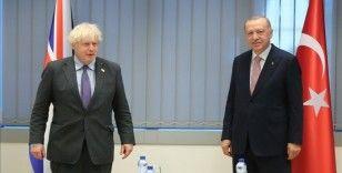 Cumhurbaşkanı Erdoğan, Birleşik Krallık Başbakanı Johnson ile görüştü