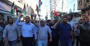 Gazze'de aşırı sağcı Yahudilerin Doğu Kudüs'teki 'Bayrak Yürüyüşü' protesto edildi