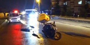 Ankara'da otomobil ile motosiklet çarpıştı: 1 ağır yaralı