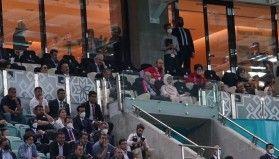 Cumhurbaşkanı Erdoğan, Türkiye - Galler maçını takip etti