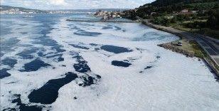 Tarihi Gelibolu Yarımadası sahillerindeki müsilaj yoğunluğu havadan görüntülendi