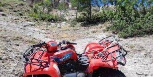 ATV şarampole devrildi, 1 ölü, 1 yaralı