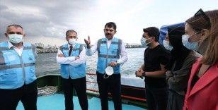 Bakan Kurum: Marmara Denizi'nden 12 günde 4 bin 555 metreküp müsilaj temizlendi