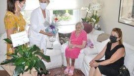 Mersin'de 108 yaşına giren Sümerolog Muazzez İlmiye Çığ'a doğum günü sürprizi