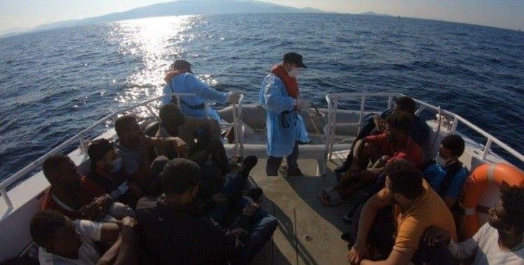 Yunanistan tarafından geri itilen 15 düzensiz göçmen kurtarıldı