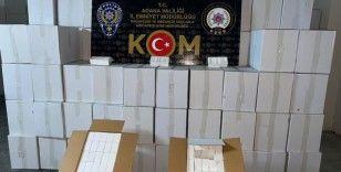 Adana'da 20 milyon 515 bin bandrolsüz makaron ele geçirildi