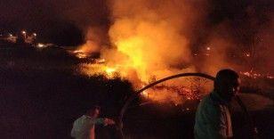 Burdur Gölü'ndeki sazlıkta çıkan yangın yürekleri ağza getirdi