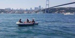 İstanbul Kuzguncuk'ta denize giren bir kişi akıntıya kapılıp gözden kayboldu