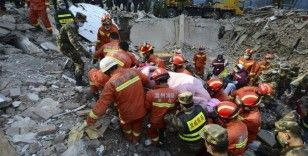 Çin'de otel çöktü: 1 ölü, 10 kayıp