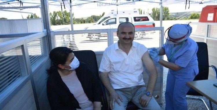 Edirne Valisi Canalp'tan gurbetçilere aşı çağrısı
