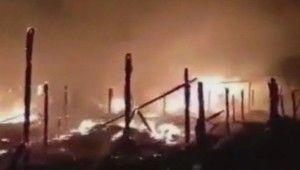 Lübnan'da Suriyeli mülteci kampında yangın, 5 yaralı
