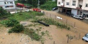 Rize'de yollar göle döndü, iş yerlerini su bastı