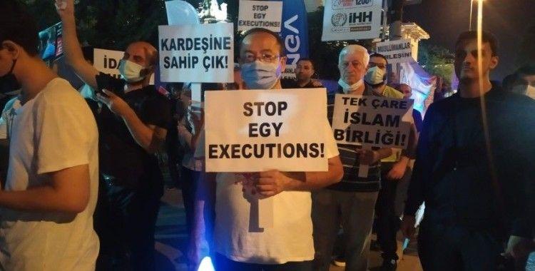 Mısır Başkonsolosluğu önünde idam karşıtı protesto