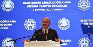 İçişleri Bakanı Soylu, 'Elektronik Kimlik Doğrulama Sistemi'nin tanıtımını yaptı