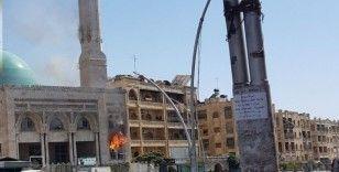 Halep'te cami yangını: 4 yaralı