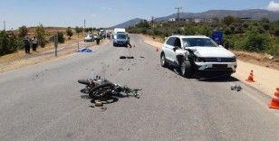 İslahiye 'de otomobil ile motosiklet çarpıştı: 1 ölü