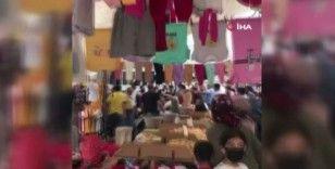 Esenyurt'ta pazarcıların kavgası kamerada