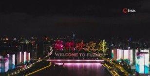 Çin'de Dünya Mirası Komitesi'nin ışık gösterisi geceyi aydınlattı