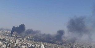 Şam'da korkutan yangın