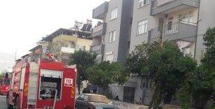 Klima bomba gibi patladı, tüm ev yandı bölgede elektrikler kesildi