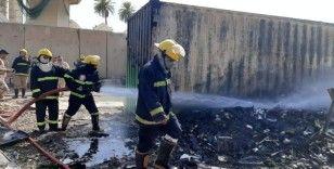 Bağdat'ta askeri havalimanında yangın