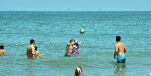 Sakarya'da Bodrum sahillerini aratmayan görüntüler