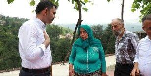 Çevre ve Şehircilik Bakanı Kurum, Rize'de heyelanda kaybolan vatandaşın ailesini ziyaret etti