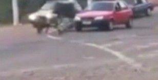 Brezilya'da yemek taşıyan kurye domuz saldırısına uğradı