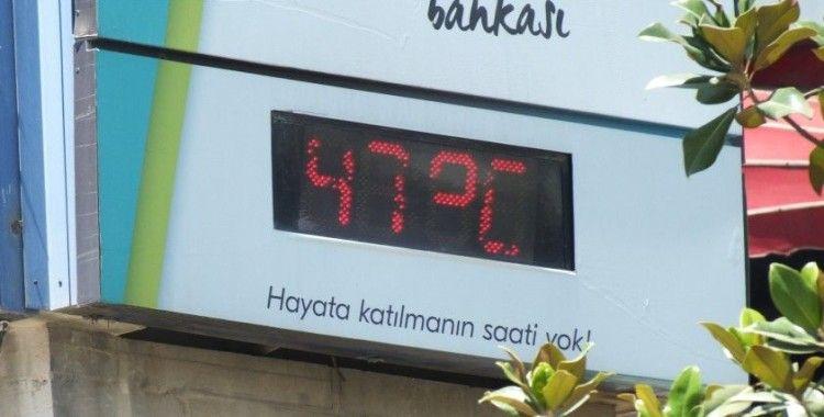 Elazığ'da termometreler 47 dereceyi gösterdi, caddeler boş kaldı