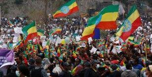 Etiyopya'da on binlerce kişi Tigraylı isyancılara karşı gösteri yaptı