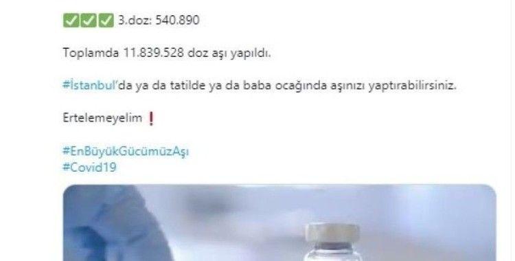 """İstanbul Valisi Yerlikaya: """"İstanbul'da aşı yüzde 63.1'e ulaştı"""""""