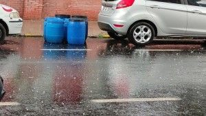 Ardahan'da kısa süreli dolu yağışı etkili oldu