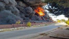 Yalıtım malzemeleri bulunan depoda yangın