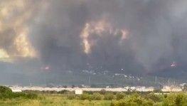 Antalya Manavgat'ta çıkan yangına ekiplerin müdahalesi sürüyor