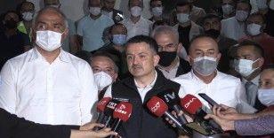Bakan Pakdemirli: 'Yangın maalesef kontrol altına alınmış değil'