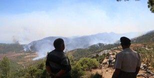 Köylerinin yanışını tepeden çaresizce izliyorlar