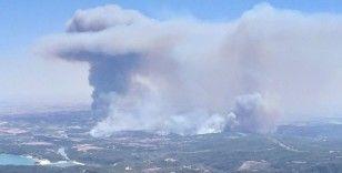 Aladağ'daki yangını söndürme çalışmaları sürüyor