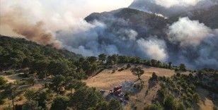 Akseki'deki yangında zarar gören alanlar havadan görüntülendi