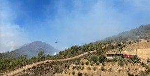 Antalya'nın Gazipaşa ilçesindeki orman yangınına müdahale ediliyor