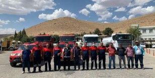 Mardin Büyükşehir Belediyesinden yangın söndürme çalışmalarına tam destek