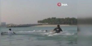 Dubai Veliaht Prensi Maktum, BAE Hava Sporları Federasyonu Başkanı Neyadi'yi boğulmaktan kurtardı