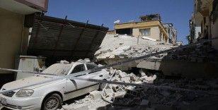 Gaziantep'te 5 katlı boş bina çöktü