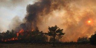 Manavgat'ta alevler yeniden metrelerce yükseldi, ekipler havadan karadan müdahale etti