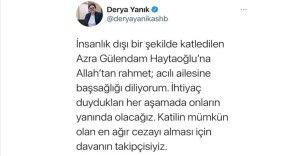Bakanı Derya Yanık'tan Azra Gülendam Haytaoğlu açıklaması: Davanın takipçisi olacağız
