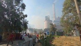 Termik santralde başlayan yangını mutfak personeli söndürdü