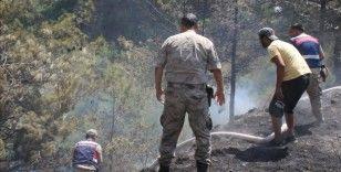Hatay'da çıkan orman yangınına 2 söndürme helikopteri ve 5 arazözle müdahale ediliyor