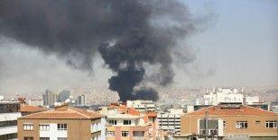 Ankara'da bir hastane inşaatınında yangın çıktı