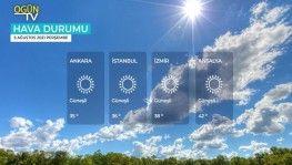 Yarın kara ve denizlerimizde hava nasıl olacak? 5 Ağustos 2021 Perşembe