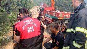 Emniyet Afet Kriminal İnceleme birimi yangın bölgelerinde aktif görev alıyor