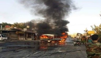 Suriye'de rejim askerleri taşıyan otobüste patlama